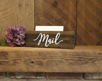 Small mail box, mail organizer, rustic office decor, rustic mail box, mailbox, rustic mail holder, card box, rustic planter, wood planter