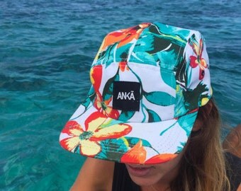 SALE! 5 PANEL HAT, Five panel hat, Summer, Are you ready? Floral 5 panel hat, five panel hat, Gift!