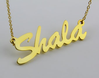 Gold Name Necklace,Custom Name Necklace,Personalized Name Necklace,Custom Necklace,Cursive Name Necklace,Christmas Gift N029