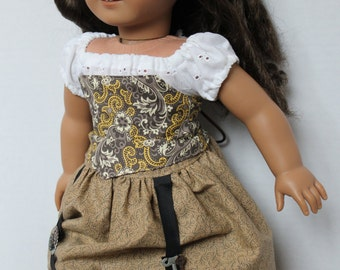Steampunk inspired corset for American Girl Doll