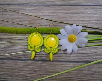 earrings / soutache technique / handmade (nr232)