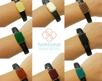 Fitness Tracker Charm for Fitbit Flex 2 & Jawbone Up -The JESSICA Charm Enhances and Protects Your Tracker 8 Colors!