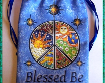 Blue Mystic Peace Tarot Card Bag, Ideal for most Angel, Fairy Or Wicca Cards