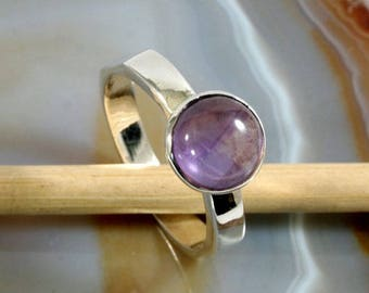 Amethyst and 925 Sterling Silver Ring  --  6286