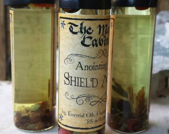 Shield Maiden Oil, Protection Oil, Witchcraft, Wicca, Witch, Ritual Oil, Anointing Oil, Aromatherapy, Apothecary, Essential Oil Blends