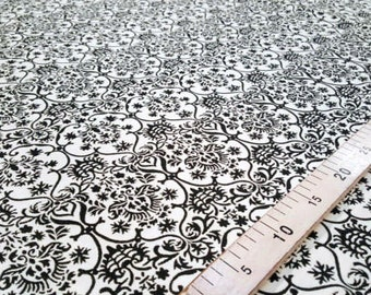 Black and white jacquard fabric #7521