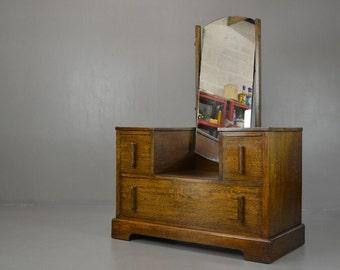 Art Deco Oak Dressing Table
