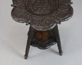 Carved Indian Table