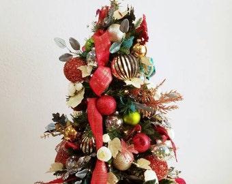 christmas tree holiday tree decorated tree table top tree christmas decorations - Small Decorated Christmas Trees