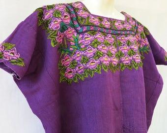 Authentic Handmade Mayan Guatemalan Embroidered Huipil from Patzun Guatemala