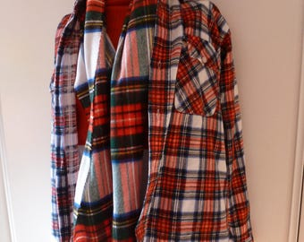 plaid shirt and his scarf sold together