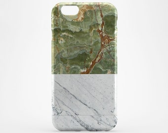 White Marble iPhone 8 Case iPhone 10 X Case Green Phone Cover iPhone 7 Plus iPhone 6 Case iPhone 7 iPhone SE Case iPhone 5 Galaxy S7 S8 Case