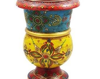 Handmade Wooden Flower Pot