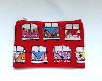Campervan Purse,  Coin Purse, Coin Pouch, Zipped Purse, Zipped Pouch