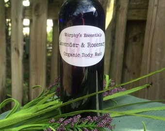 Organic Handmade Body Wash with Lavender and Rosemary Essential Oil