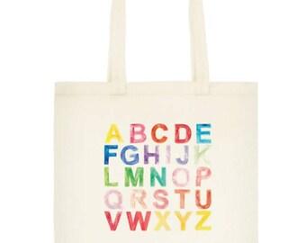 Alphabet Art Graduation Gift Tote Bag
