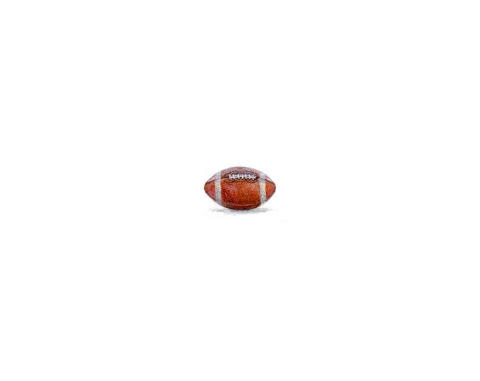 Original Miniature painting of a Football tiny painting, Football tiny art 5 x 5