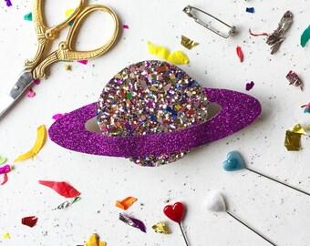 Galaxy badge making kit- badge- pin- DIY kit- space pin- stocking filler- craft kit -craft supplies -jewellery making supplies- stocking stu