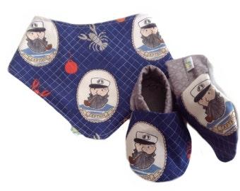 Aye, Aye Captain Baby Shoes and Bandanna Gift Set