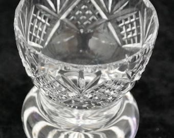 A Miniature Cut Glass Pot - Ideal Gift / Present / Collectable