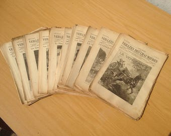 Old magazine the vigils of the 105 numbers cottages 45th year 1921 1922