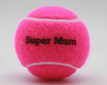 Super Mum Printed Tennis Balls