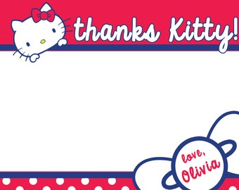 Hello Kitty Thank You Note