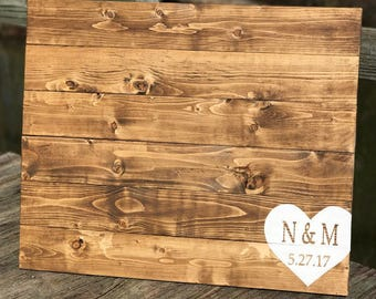 Wood wedding guest book, wedding decor, guest book, weddings
