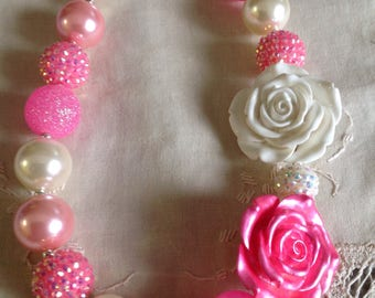 Pink bubblegum necklace