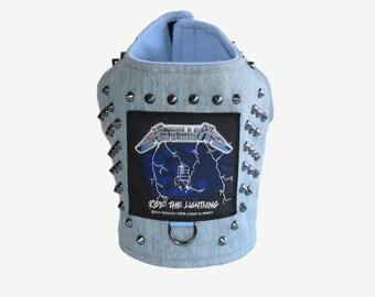 Metallica inspired Ride The Lightening Studded Denim Vest