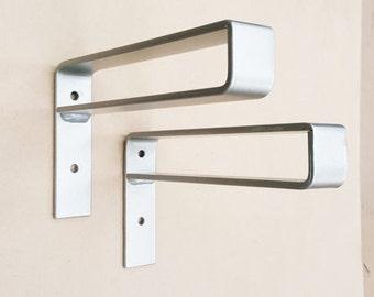 "12"" Belt Bracket.  Hand Forged Metal. Shelf Bracket**"