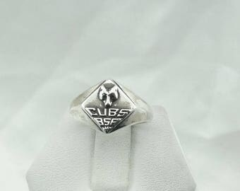 "Collectable Solid Sterling Silver ""CUBS"" Boy Scouts of America Ring  #CUB-SR5"