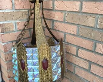 SOLD --- Vintage 1960's Swag Lamp Chandelier