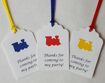 Choo Choo Train Birthday Party Favor Tags: Thanks for coming to my party!, Set of 12