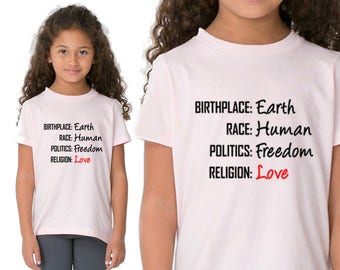 Birthplace Earth, T-shirt Stamp, Gift for Boy, Gift for Girl, Gift for Kids, Gift For Him, Gift For Her, Personal Shirt, Heat Transfer Vinyl