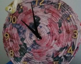 Clock created with paper