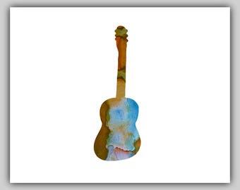 Watercolor, Water color, Guitar Art, Guitar Pictures, Guitar Print, Guitar Prints, Print Guitar, Print Music, Baby Boy Wall Art, Instrument