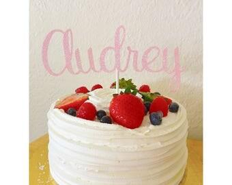 Custom Name Cake Topper, Birthday Name Cake Topper- 1st birthday Cake, birthday , Custom  name Cake topper, Name Decorations, cursive topper
