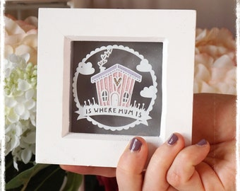 Home is where Mum is, Mothers Day gift, Mum Birthday Gifr