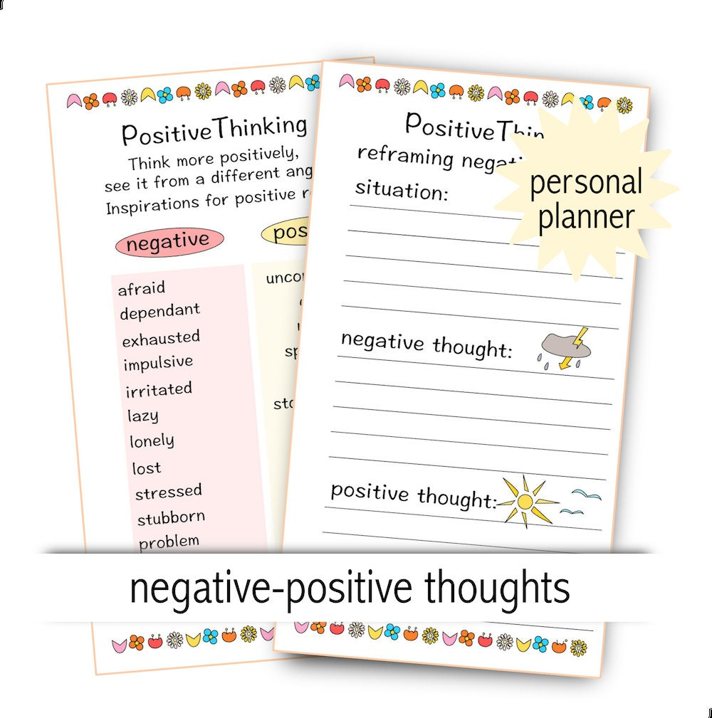 Depression Help Positive Thinking Instant Download