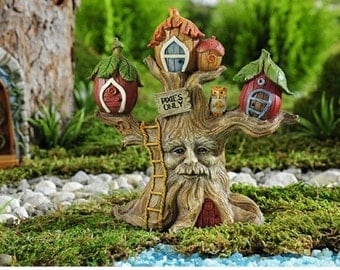 Fairy Garden  - Enchanted Forest Tree House - Miniature