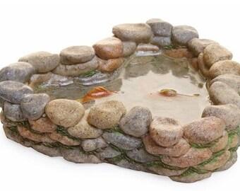 Fairy Garden  - Stone Koi Pond - Miniature