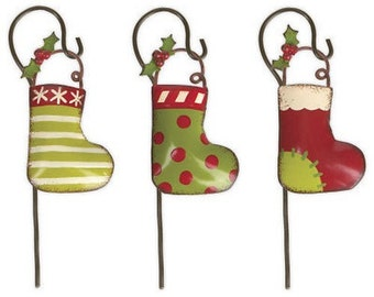 Fairy Garden  - Stockings With Hook Set of 3 - Miniature