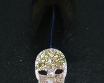 OOAK Ghost Masquerade Mask ~ Dolls House Miniature ~ 12th Scale