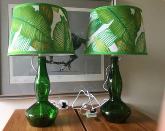 A pair of handmade lamps