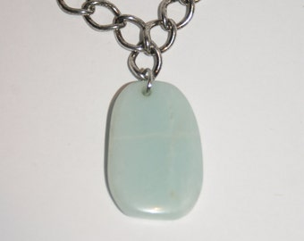 Sky Blue Stone Chain Necklace