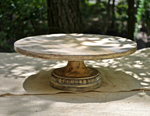 16 wedding cake stand large 16 inch pine rustic cake stand cupcake stand 1029