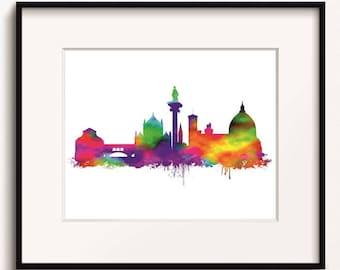 Florence Skyline, Watercolour Art Print (261)Florence Cityscape,Florence, Italy Art Print, Florence Art Print, Florence Poster, Abstract Art