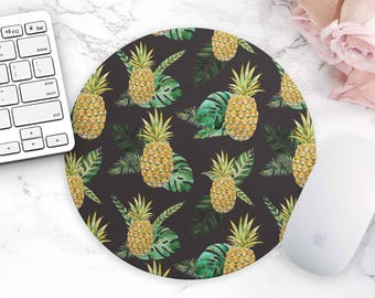 Mouse Pad Pineapple Tropical Cute Office Home Dorm Decor Desk Accessories Mousepad Office Supplies Cute Desk Pad Pineapple Tropical Fruit