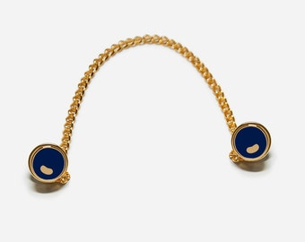 Blue Button pins, 3-Way Collar Pin
